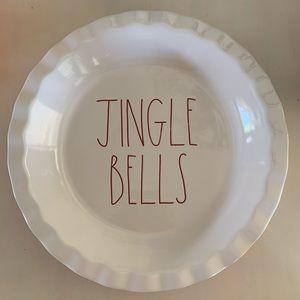 Rae Dunn Jingle Bells Pie Plate